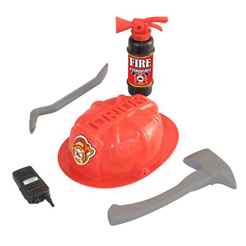 Набір Пожежника ОРІОН 328, вогнегасник, лом, сокира, рація, в кульку