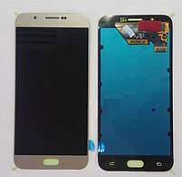 Дисплей (экран) для Samsung A800F Dual Sim Galaxy A8 (2015) + тачскрин, золотой, оригинал