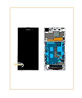 Дисплей Модуль Sony C6902 L39h Xperia Z1 с сенсором и рамкой Black/White