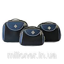 Сумка кейс саквояж Bonro Style (средний) черно-черно-т. синий, фото 2