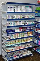 Новые стеллажи торговые с полками для магазина бытовой химии и товаров для дома. Торговое оборудование WIKO