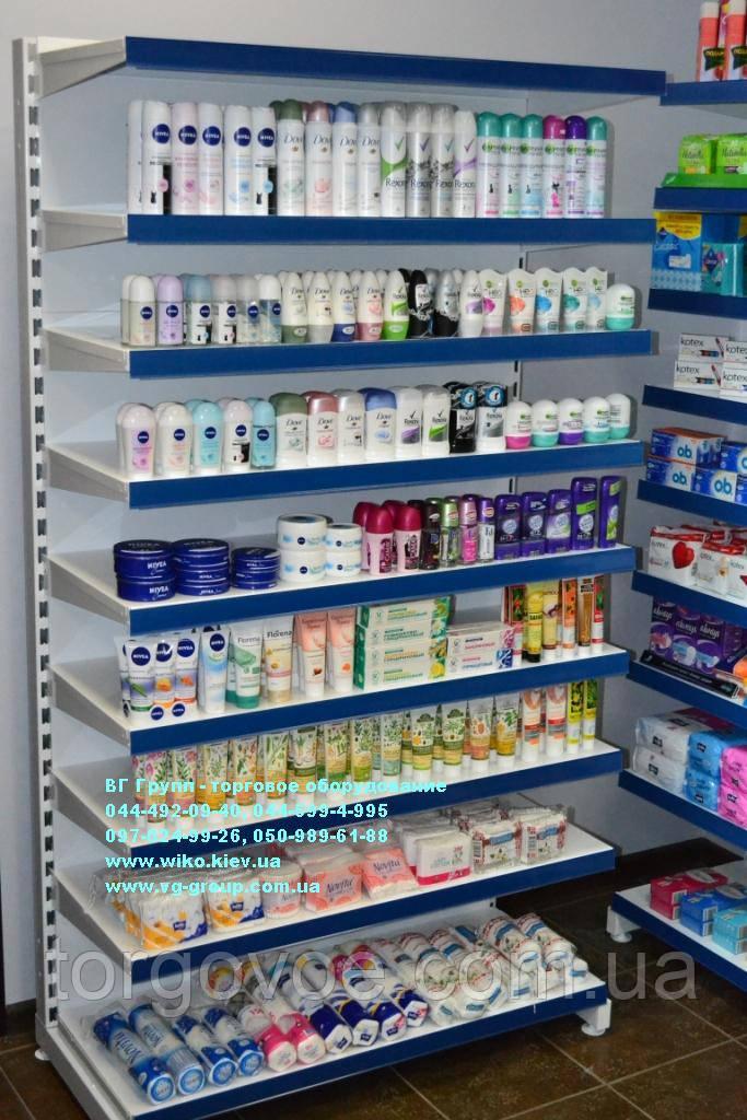 Стеллажи торговые с полками для магазина бытовой химии и товаров для дома. Торговое  оборудование WIKO 8a927afbb40