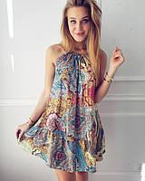 Пестрое платье... S-M