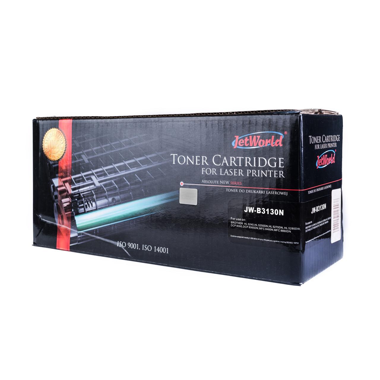 Картридж JetWorld Brother TN-3130N Black для HL-5240/HL-5280DW