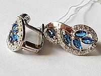 """Комплект серебряный с накладками золота """"Эдита"""", фото 1"""