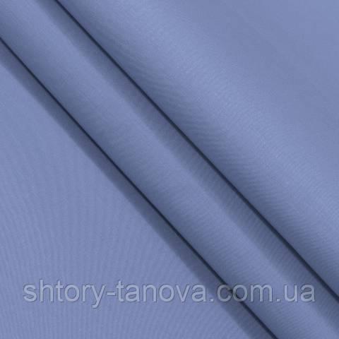 Декоративная ткань для штор, однотонная тёмно-голубой