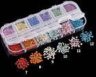 Набор сухоцветов для дизайна ногтей, 12 цветов, фото 4