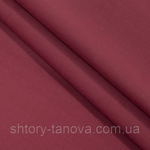 Декоративная ткань для штор, однотонная вишня