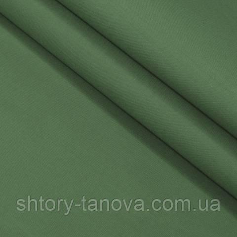 Декоративная ткань для штор, однотонная тёмно-зелёный