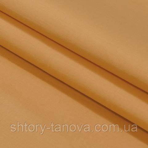 Декоративная ткань для штор, однотонная оранж