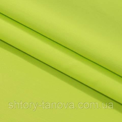 Декоративная ткань для штор, однотонная ярко-салатовый