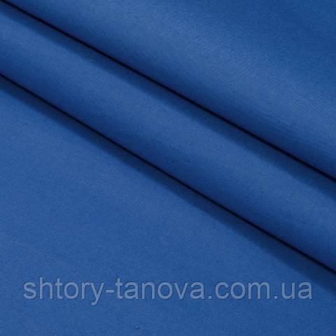 Декоративная ткань для штор, однотонная синий