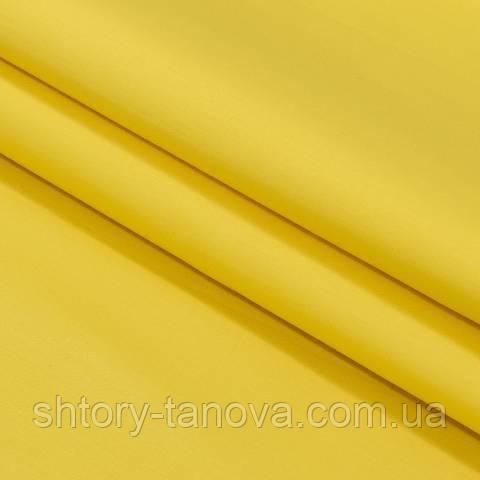 Декоративная ткань для штор, однотонная ярко-жёлтый
