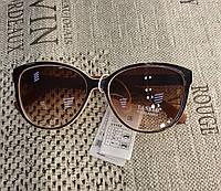 МОДНЫЕ СОЛНЦЕЗАЩИТНЫЕ  очки ,цвет линз коричневый, оправа кофе с молоком