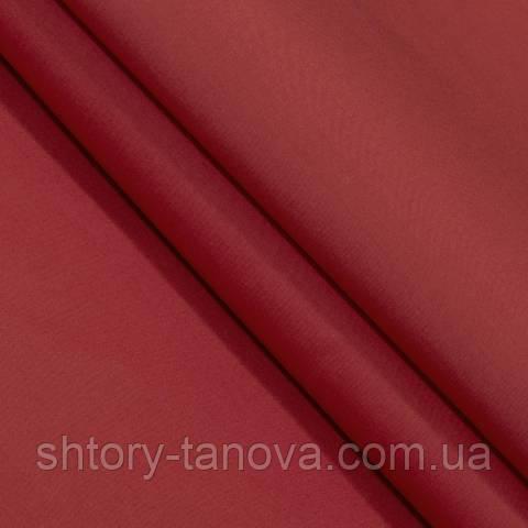 Декоративная ткань для штор, однотонная ярко-красный