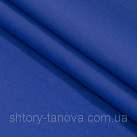 Декоративная ткань для штор, однотонная василёк