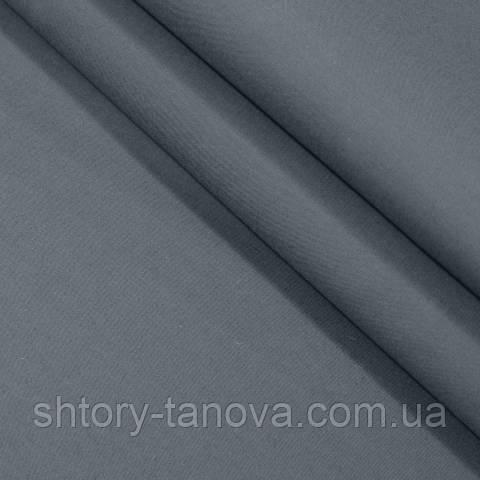Декоративная ткань для штор, однотонная тёмно-серый