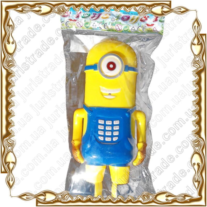 Телефон Миньон, муз., свет, подвижные руки и ноги, на батар.JY988-89 (393343)