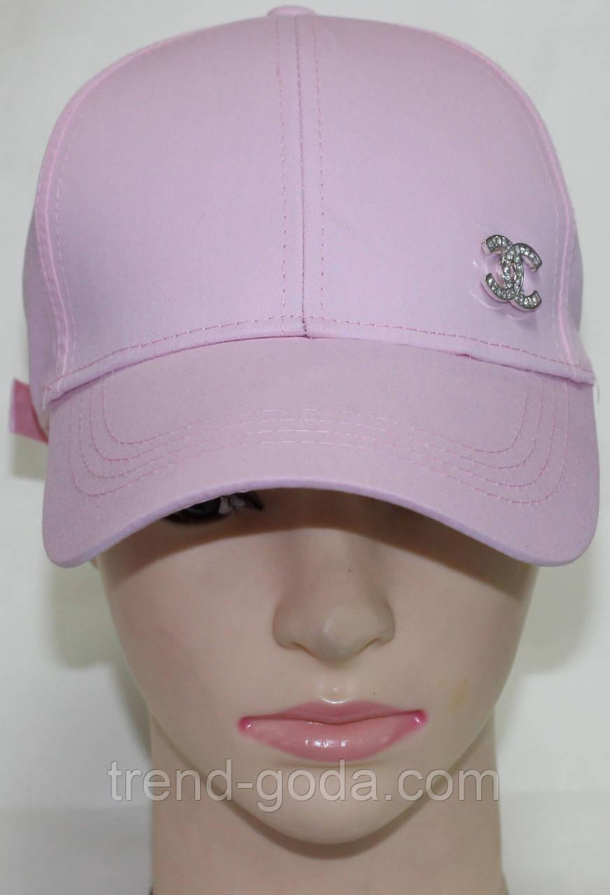 Кепка светло-розовая женская молодежная