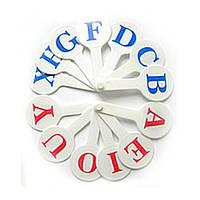 Веер Развивающий Обучающий с Английскими буквами Набор Англ букв Английских, 007517