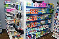 Стеллаж торговый. Стеллаж для магазина бытовой химии и личной гигиены. Торговое оборудование для магазина