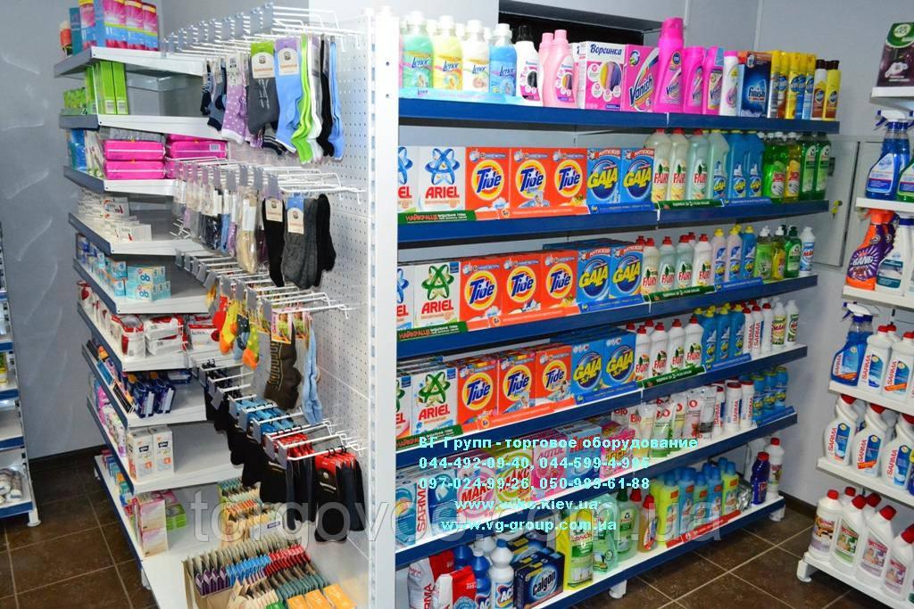 Стеллаж торговый. Стеллаж для магазина бытовой химии и личной гигиены. Торговое  оборудование для магазина 2a6ea64d8da