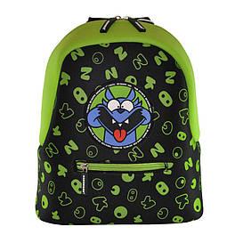 Дошкольный рюкзак KOKONUZZ-BE HAPPY с собакой черно-салатовый