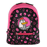 Дошкольный рюкзак KOKONUZZ-BE HAPPY с курицей черно-малиновый