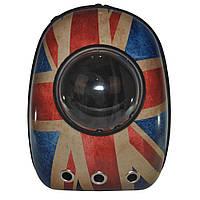 Рюкзак-переноска с иллюминатором U-Pet для котов и небольших собак флаг Великобритании