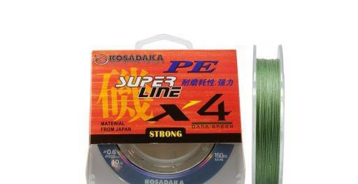 Шнур Kosadaka PE Super Line X4 150m 0.20mm 12.20kg Dark Green