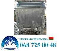 Оцинкованный евроконтейнер для мусора