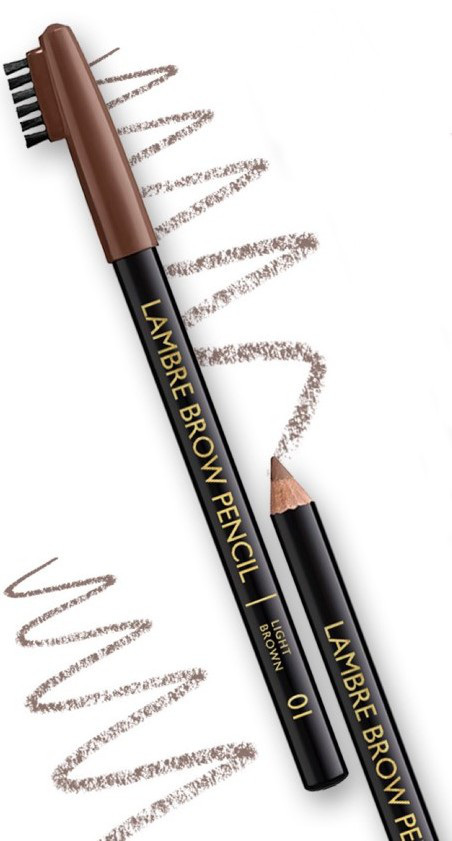 Олівець для брів LAMBRE BROW PENCIL №01 Світло-коричневий