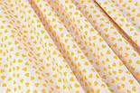 Ткань с желтыми мини сердечками на белом фоне (№ 834), фото 3
