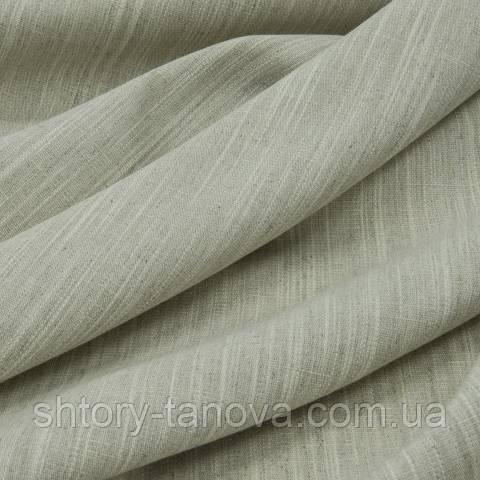 Декоративная ткань для штор, однотонная, лён бежевый