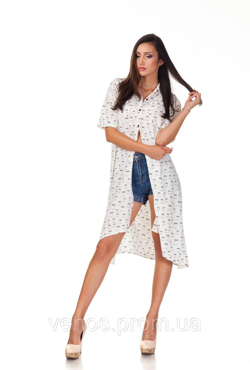 Воздушное платье рубашка. П097