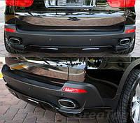 Юбка накладка на задний бампер обвес BMW X5 E70 Performance дорестайл