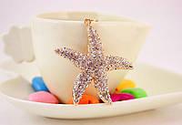 """Брелок """"Морская звезда"""" с яркими камнями, стильный женский брелок на сумку, ключи"""