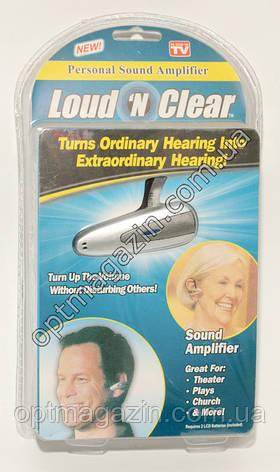 СЛУХОВИЙ АПАРАТ підсилювач звуку Loud Clear, фото 2