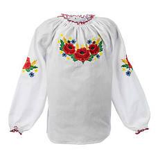 Детские вышиванки Костюмчик-Тройка для девочек синего цвета, фото 3