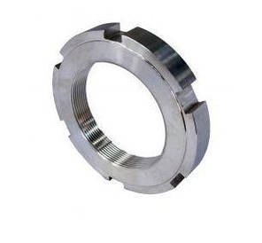 Гайка круглая шлицевая М12х1,5 DIN 1804 из нержавейки