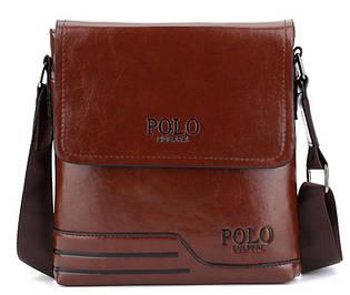Чоловіча сумка на плече Polo PRS Темно-коричневий