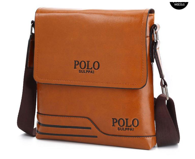 Мужская сумка на плечо Polo PRS Коричневый