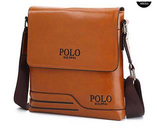 Чоловіча сумка на плече Polo PRS Коричневий