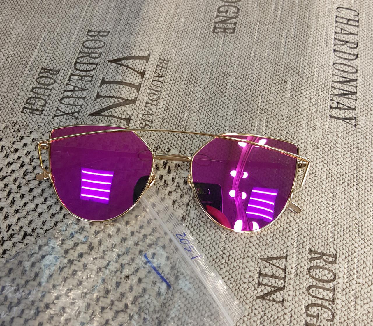 Уценка!!! Солнцезащитные очки  Dior, цвет линз розовый