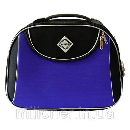 Сумка кейс саквояж Bonro Style (большой) черно-фиолетовый, фото 2