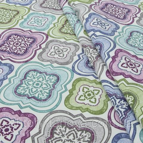 Декоративная ткань для штор с принтом мультиколор