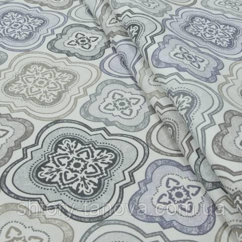 Декоративная ткань для штор с принтом тусклый мультиколор