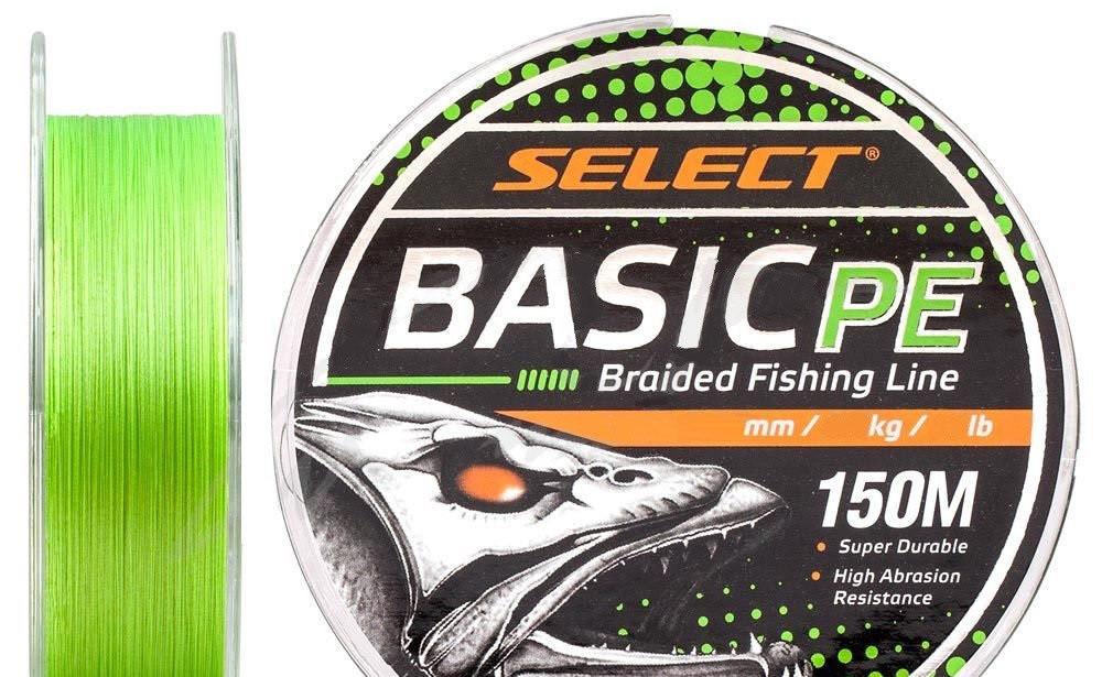 Шнур Select Basic PE 150m (салат.) 0,18мм 22LB/9,9kg
