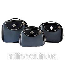 Сумка кейс саквояж Bonro Style (большой) черно-серый, фото 2