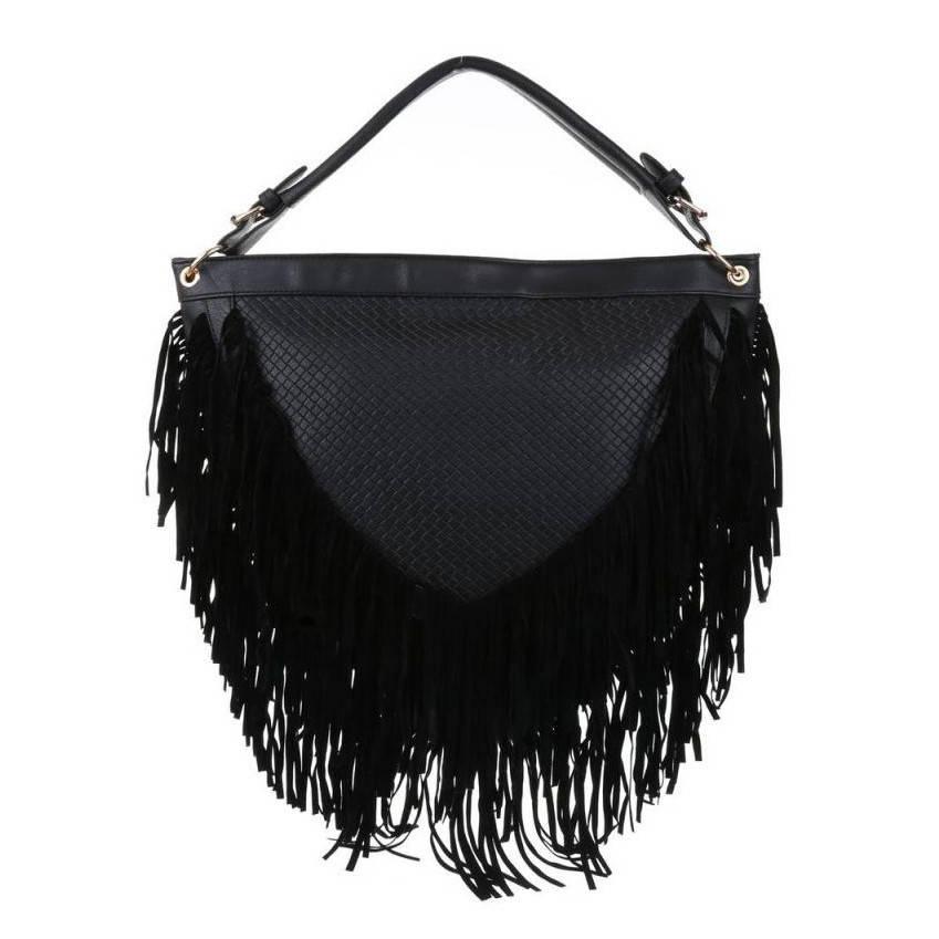 4e2a07426877 Объемная женская сумка-торба с бахромой, полукруглая форма. Цвет ...